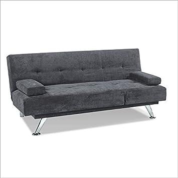 Serta Dream Convertibles Cornell Convertible Sofa in Dark Grey