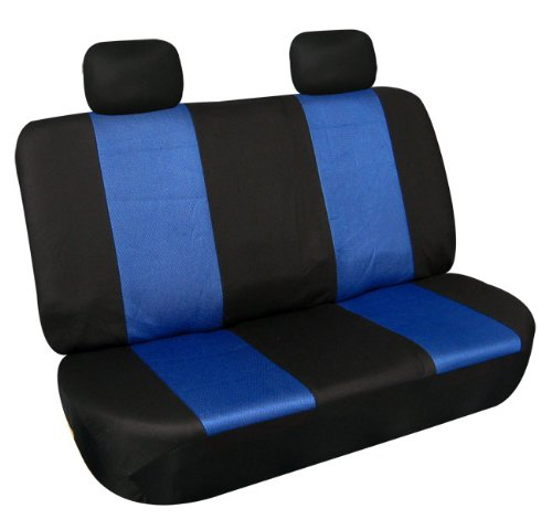 Univerisal Bench Car Seat Cover Fb102 Blue/black R012