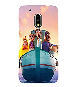 Ship with Cartoon Characters 3D Hard Polycarbonate Designer Back Case Cover for Motorola Moto G4