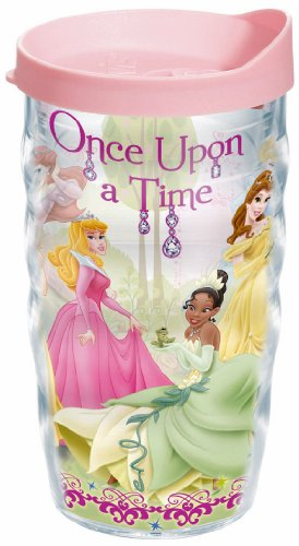 Tervis Wavy Wrap Tumbler With Pink Lid, 10-Ounce, Disney Princess Group
