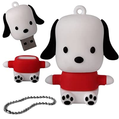 iGloo 8GB Novelty Cute Dog Puppy USB 2.0 Flash Drive Data Memory Stick Device - Black and White by iGloo