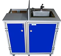 Hot Sale Monsam PRO-01 Propane Powered Self Contained Portable Sink, Blue