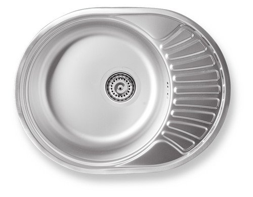 Rundbecken Spüle aus Edelstahl Spülbecken Küchenspüle Edelstahlspüle -Maße: 450 x 580 mm