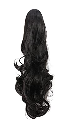 """OneDor® 20"""" Curly Synthetic Clip In Claw Drawstring Ponytail Hair Extension Synthetic Hairpiece 190g with a jaw/claw clip"""