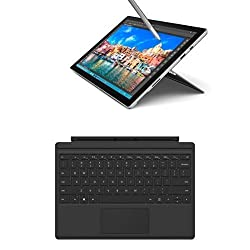 Set Microsoft Surface Pro 4 31,24 cm (12,3 Zoll) Tablet-PC (Intel Core i5, 4GB RAM, 128 GB, Intel HD Graphics, Windows 10 Pro) + Microsoft QC7-00022 Surface Pro 4 Type Cover schwarz