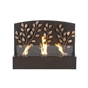 Amazon.com: Southern Enterprises Vine Wall Mount Fireplace: Home ...