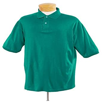 Jerzees - 5.6 oz 50/50 Jersey Knit Polo with SpotShield Stain Resistance, Jade Green, 5XL
