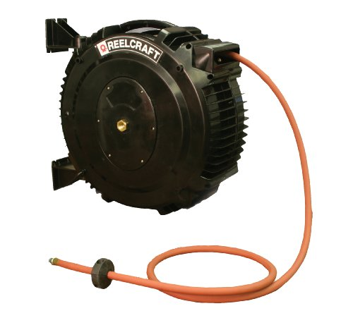 Reelcraft SCA3850 OLP 1/2-Inch by 50-Feet Spring Driven PVC Hose Reel for Chemical Delivery