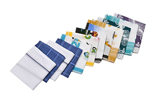 Riqueza Unisex Handkerchief (Pack Of 12) (RFC 003_Multi_Free Size)