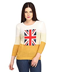 Snoby Flag Polyester Top in Yellow and White (SBY1005)