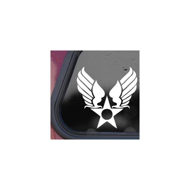 US Army Air Corps Hap Arnold Wings White Decal Sticker Wall White Decal Sticker   Decorative Wall Appliques