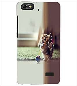 PrintDhaba Playing kitty D-2140 Back Case Cover for HUAWEI HONOR 4C (Multi-Coloured)