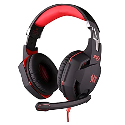 3.5mm LED PC Gaming Bass Stereo Vibration Headsets Headphones With Mic Volume Control HiFi Driver For Laptop Computer Skype Online Chatting