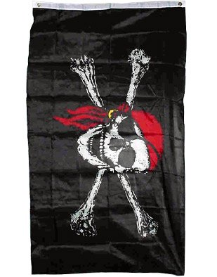 HUGE Jolly Roger Flag - 4 x 6 Feet