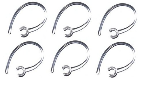 """6 Clear """"Bendable & Flexible"""" Ear Hook Replacement Stabilizer For Lg-Hbm 210 330 520 570 730 750 760 770 (Bluetooth) Designed & Manufactured By Ez-Flex Inc."""
