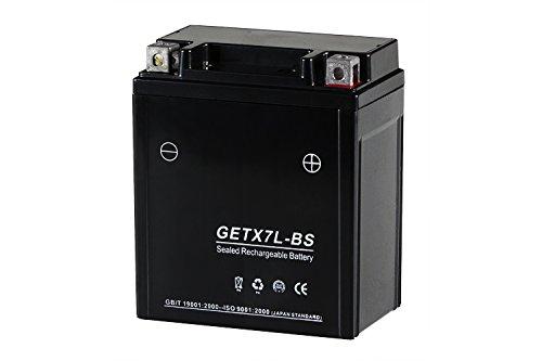 シールド式 GELバイクバッテリー7L-BS GETX7L-BS(YTX7L-BS FTX7L-BS GTX7L-BS互換】DIO110/リード110/ホーネット250/CBR250RR/セロー225/Dトラッカー/バリオスⅡ 7L-BS