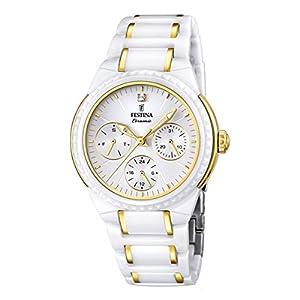 Festina F16699/2 - Reloj de pulsera mujer, cerámica, color blanco