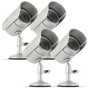 SVAT VU5 Indoor/Outdoor Night Vision Color CMOS CCTV Security Surveillance Camera - Bonus Pack of 4