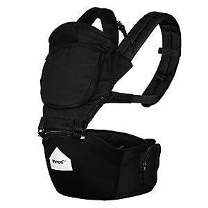 Innoo Tech Porte-Bébé 100% Coton, Porte-bébés ventraux /dorsal, Porte bebe randonnee, Protection dorsale et lombaire optimale, Portage sur le dos ou sur les hanches