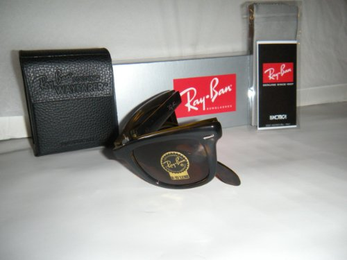 New Ray Ban RB4105 710 Wayfarer Folding 50mm Light Havana/Crystal Brown sunglasses