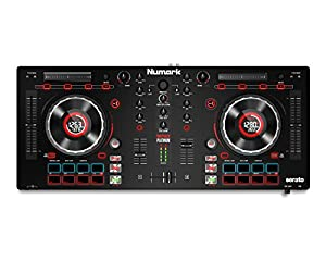 Numark Mixtrack Platinum | 2-Channel DJ Controller with 4-deck Layering and Hi-Res Jog Wheel Display for Serato DJ