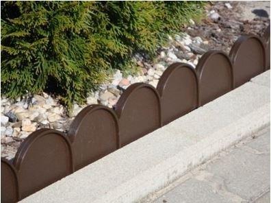 Prosperplast Cordolo bordura da giardino colore: marrone scuro, 10 m, di plastica resistente