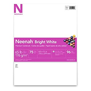 Neenah Specialty Cardstock, 8.5 X 11 Inches, Bright White, 75 Count (9090)