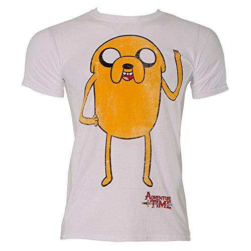 Adventure-Time-Jake-Waving-T-Shirt-White