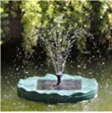 New Solar Powered Floating Lily Garden Pond Fountain