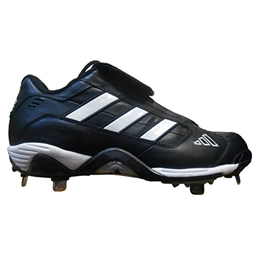 pictures of adidas Men's Excelsior Classic L Baseball Cleat (9.5, Black/Running White/Metallic Silver)