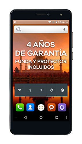 "Intex Aqua S9 Pro - Smartphone libre Android (pantalla 5.5"", 16 GB, 2 GB de RAM, cámara 13 MP), color gris grafito"