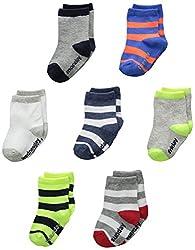 OshKosh BGosh Baby Baby-Boys Newborn 7 Pack Striped Days Of The Week Socks, Multi-Color, 12-24 Months