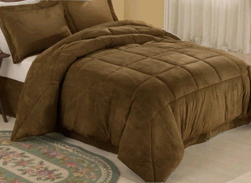 Chocolate Microsuede Down Comforter Alternative