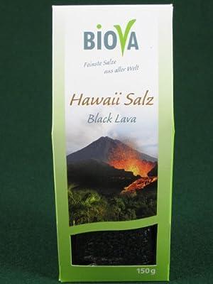 Hawaii Salz schwarz Black Lava Gourmetsalz 150g von Biova - Gewürze Shop