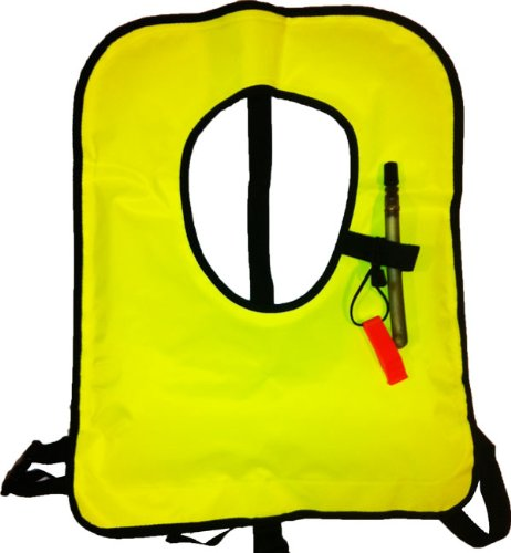 2012 model- Adult Bright Yellow Snorkel, Snorkeling Vest - USA Crafted
