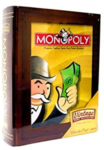 Parker Brothers Vintage Game Collection Wooden Book Box Monopoly