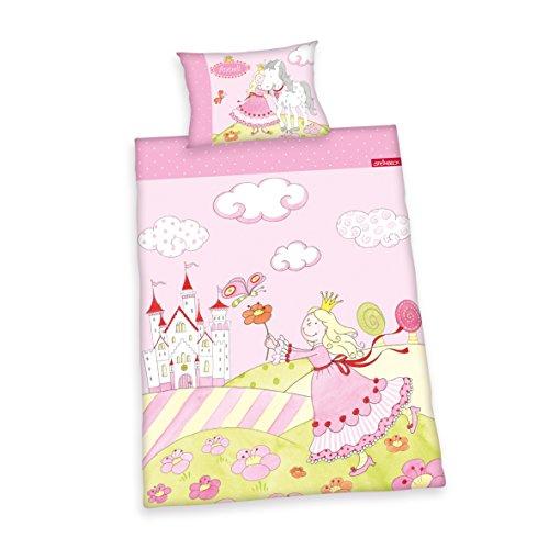 241854063 Bettwäsche Prinzessin Annelie, Kopfkissenbezug 40 x 60 cm und Bettbezug 100 x 135 cm, 100 % Baumwolle, Renforce