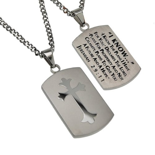 Christian Mens Silver Stainless Steel Abstinence