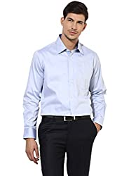 GIVO Gold Class Light Blue Solid Formal Shirt