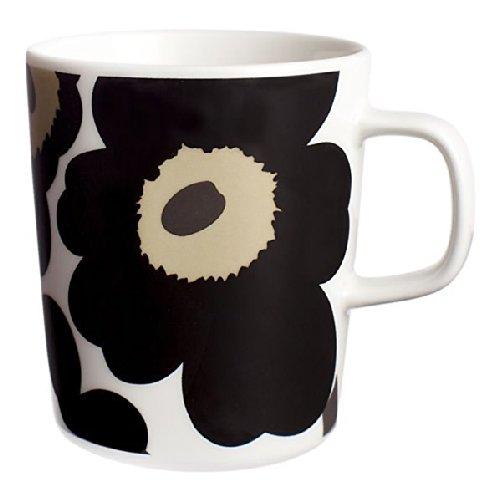 Marimekko Unikko Black Mug 250 ml