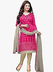 Present Pink Chanderi Cotton Salwar Kameez