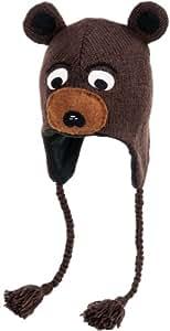 Nirvanna Designs CHBEAR Bear Hat with Fleece, Brown, 5 Years