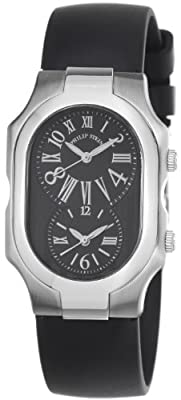 Philip Stein Women's 2-MB-RB Signature Black Rubber Strap Watch