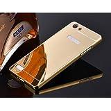 Johra Luxury Mirror Aluminium Metal Bumper Back Cover Case For Oppo A37 - Golden