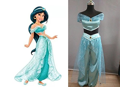 [Kmoac Aladdin Magic Lamp Princess Jasmine Costume-Small] (Jasmine And Aladdin Costumes)