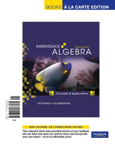 Intermediate Algebra: Concepts and Applications, Books a...