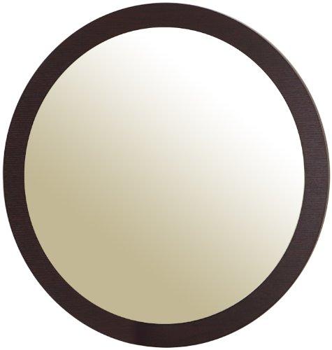 ioHOMES Loft Round Wall Mirror, Espresso