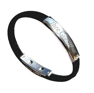 Edelstahl - Kautschuk - Armband mit Gravurplattte incl. Gravur