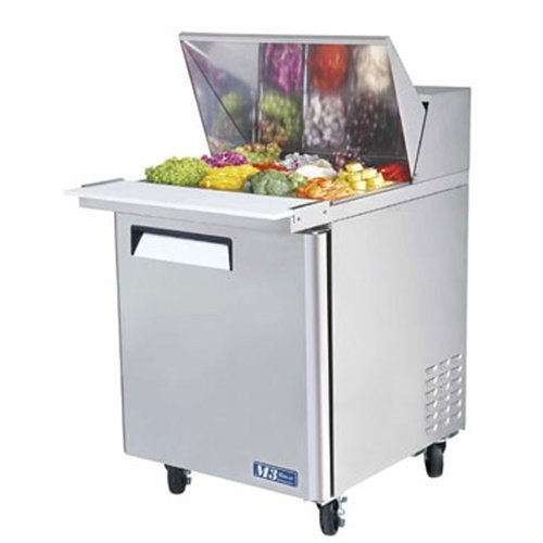 Turbo Air Mst-28-12 Basic Sandwich/Salad Table - Mega Top Unit, 1 Door, 8 Cu. Ft., 1/3 Hp back-7290