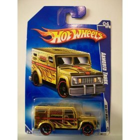 Hot Wheels 2009-110 HW City Works #4 GOLD Armored Truck 1:64 Scale - 1